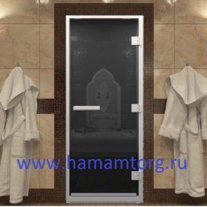 Дверь для хамама стекло Черный Жемчуг. Серия Стандарт.