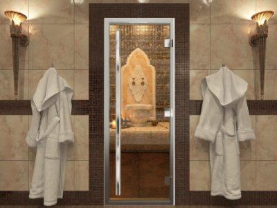 Дверь для хамама бронза Престиж